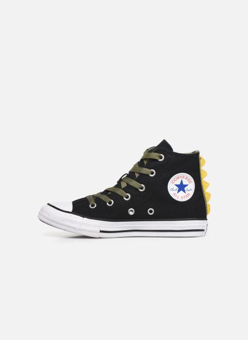 Sneaker Converse Chuck Taylor All Star Dino Spikes Hi schwarz ansicht von vorne