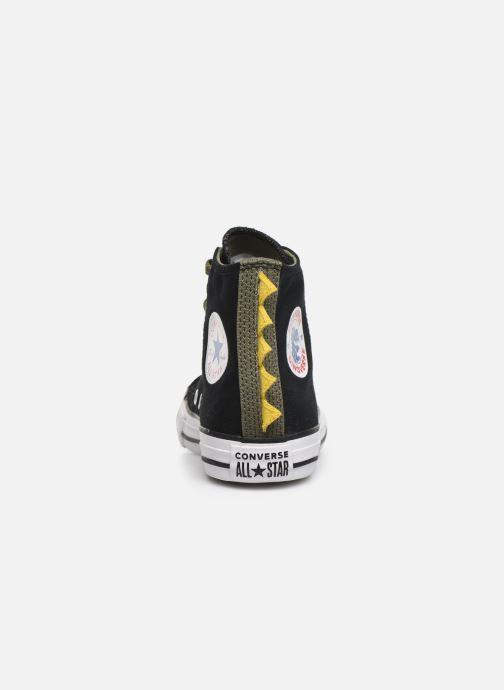 Sneaker Converse Chuck Taylor All Star Dino Spikes Hi schwarz ansicht von rechts