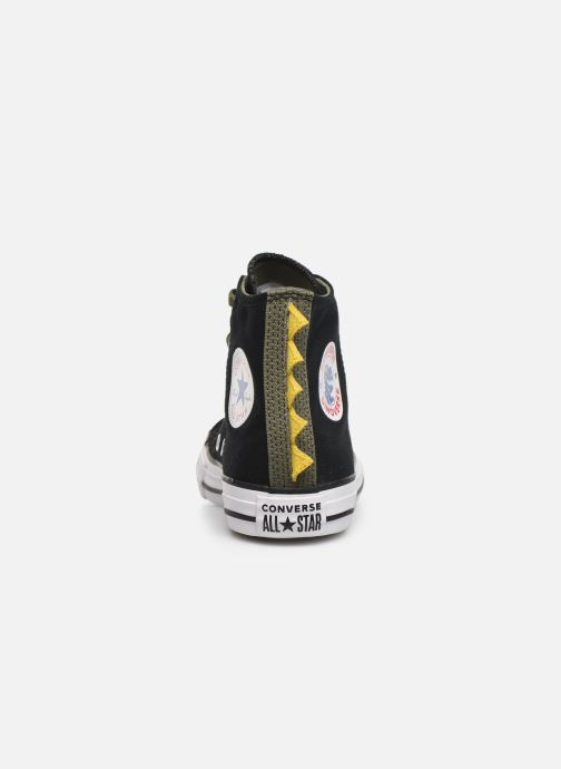 Trainers Converse Chuck Taylor All Star Dino Spikes Hi Black view from the right