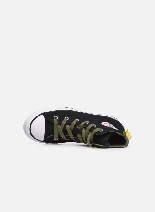 Trainers Converse Chuck Taylor All Star Dino Spikes Hi Black view from the left