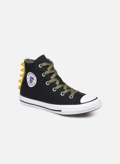 Baskets Converse Chuck Taylor All Star Dino Spikes Hi Noir vue détail/paire