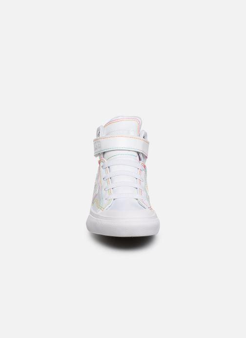 Baskets Converse Pro Blaze Strap Rainbow Stitch Hi J Blanc vue portées chaussures