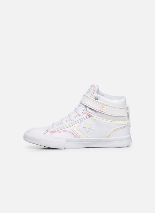 Sneakers Converse Pro Blaze Strap Rainbow Stitch Hi J Wit voorkant