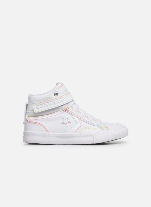 Sneakers Converse Pro Blaze Strap Rainbow Stitch Hi J Wit achterkant