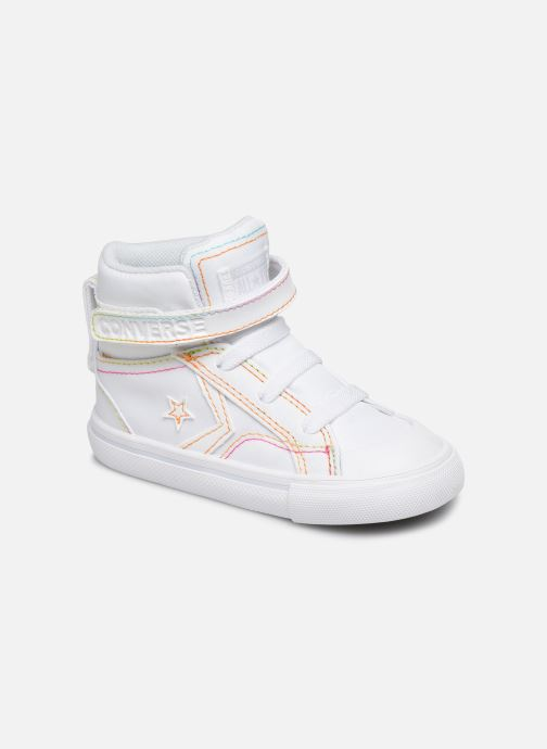 Trainers Converse Pro Blaze Strap Rainbow Stitch Hi E White detailed view/ Pair view