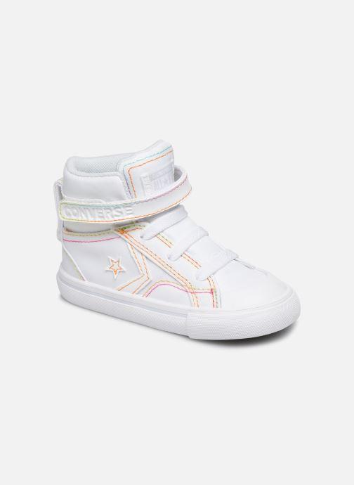 Baskets Converse Pro Blaze Strap Rainbow Stitch Hi E Blanc vue détail/paire