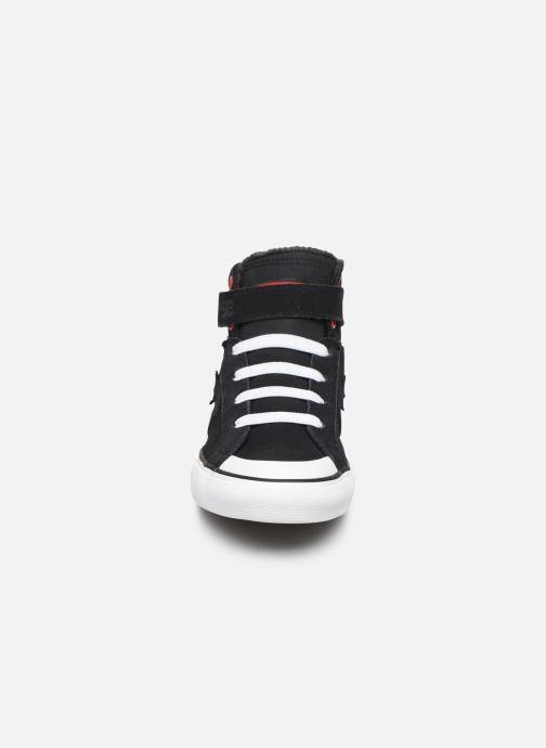 Baskets Converse Pro Blaze Strap Space Ride Hi J Noir vue portées chaussures