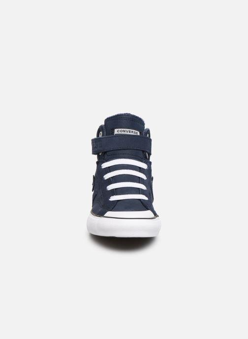 Baskets Converse Pro Blaze Strap Space Ride Hi J Bleu vue portées chaussures