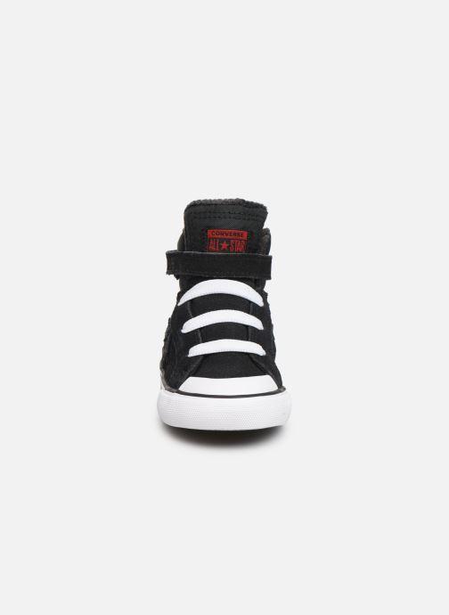 Baskets Converse Pro Blaze Strap Space Ride Hi E Noir vue portées chaussures