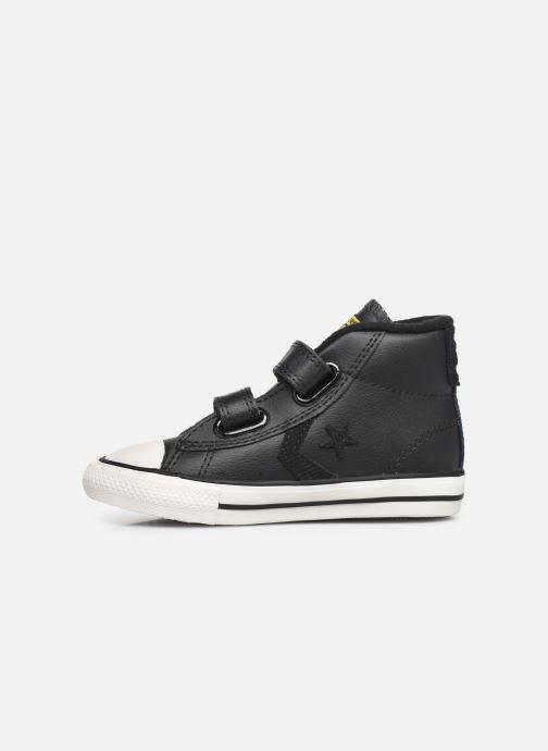 Sneaker Converse Star Player 2V Asteroid Mid schwarz ansicht von vorne