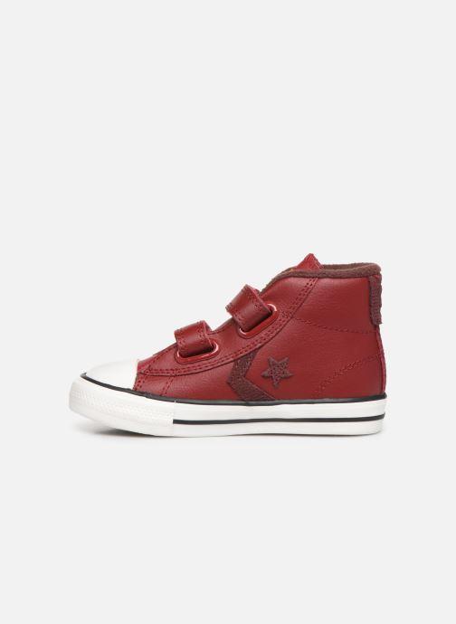 Sneakers Converse Star Player 2V Asteroid Mid Röd bild från framsidan