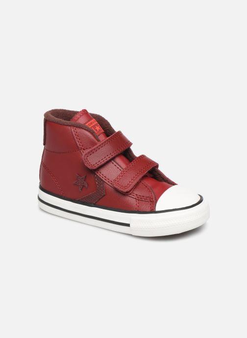 Sneakers Converse Star Player 2V Asteroid Mid Röd detaljerad bild på paret