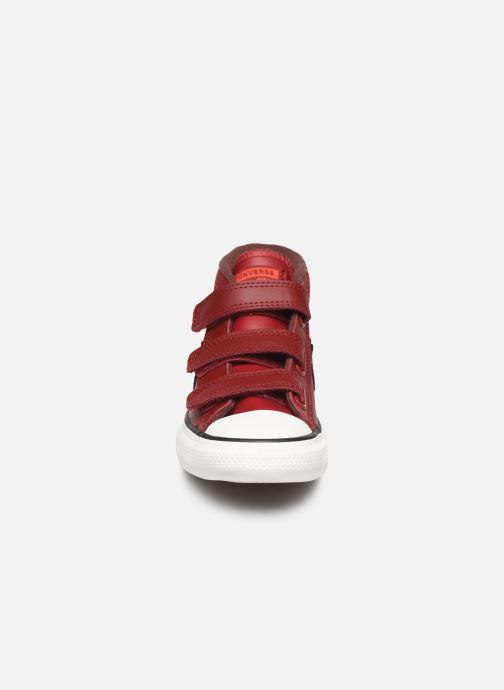 Sneaker Converse Star Player 3V Asteroid Mid weinrot schuhe getragen