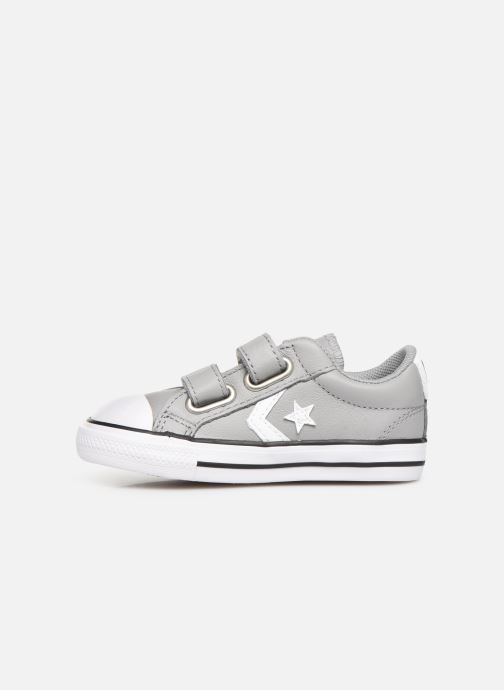 Sneakers Converse Star Player Ev 2V Leather Ox Grijs voorkant
