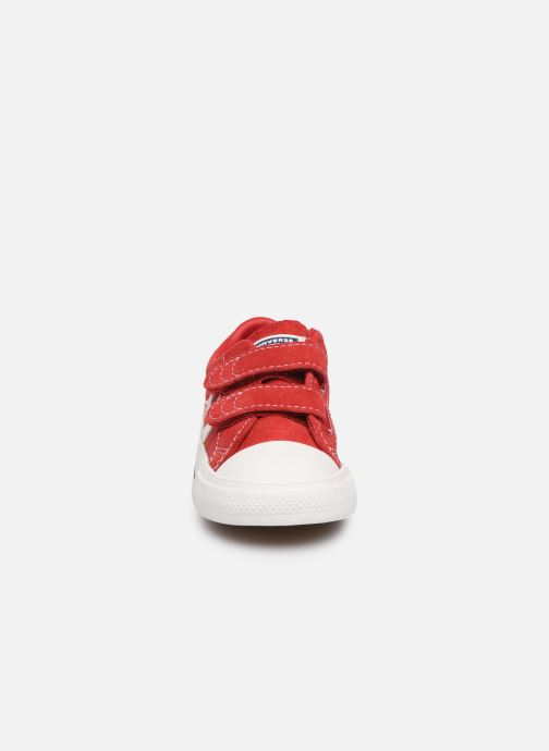 Sneaker Converse Star Player Ev 2V Leather Ox rot schuhe getragen