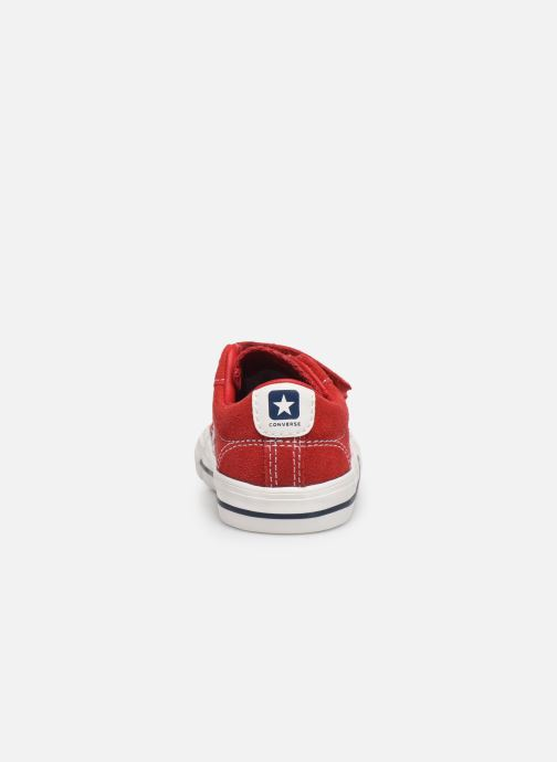 Sneakers Converse Star Player Ev 2V Leather Ox Rood rechts