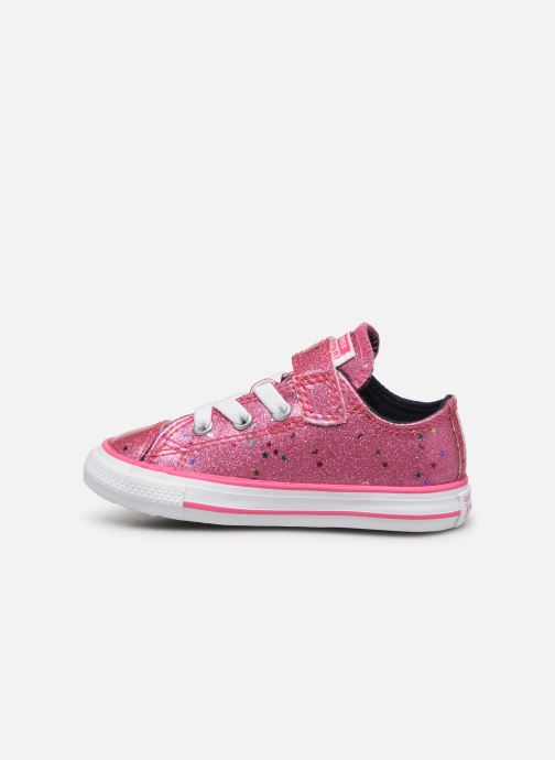 Baskets Converse Chuck Taylor All Star 1V Galaxy Glimmer Ox Rose vue face