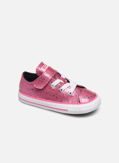 Baskets Converse Chuck Taylor All Star 1V Galaxy Glimmer Ox Rose vue détail/paire