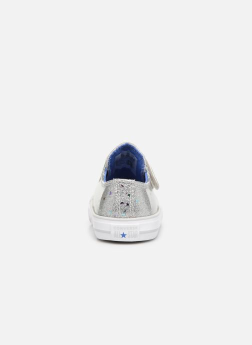 Baskets Converse Chuck Taylor All Star 1V Galaxy Glimmer Ox Argent vue droite
