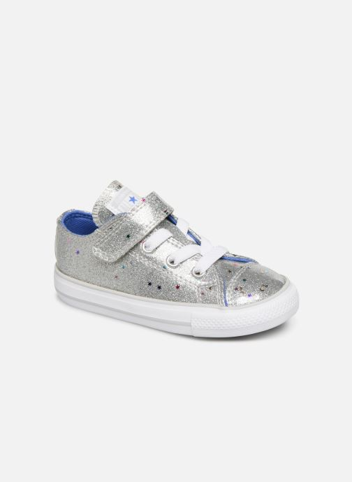 Baskets Converse Chuck Taylor All Star 1V Galaxy Glimmer Ox Argent vue détail/paire