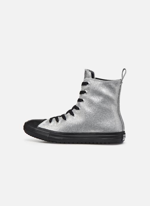 Baskets Converse Chuck Taylor All Star Boot Coated Glitter Xhi Gris vue face