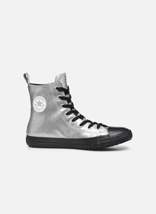 Deportivas Converse Chuck Taylor All Star Boot Coated Glitter Xhi Gris vistra trasera