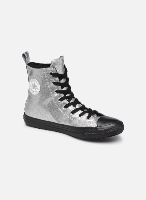 Baskets Converse Chuck Taylor All Star Boot Coated Glitter Xhi Gris vue détail/paire