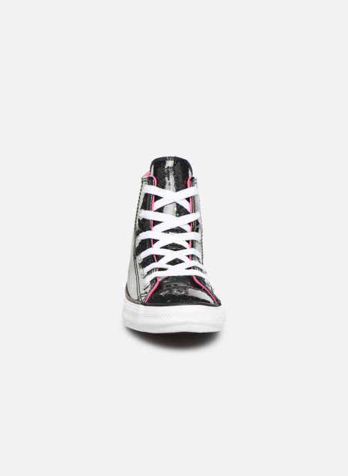 Baskets Converse Chuck Taylor All Star Galaxy Glimmer Hi Noir vue portées chaussures