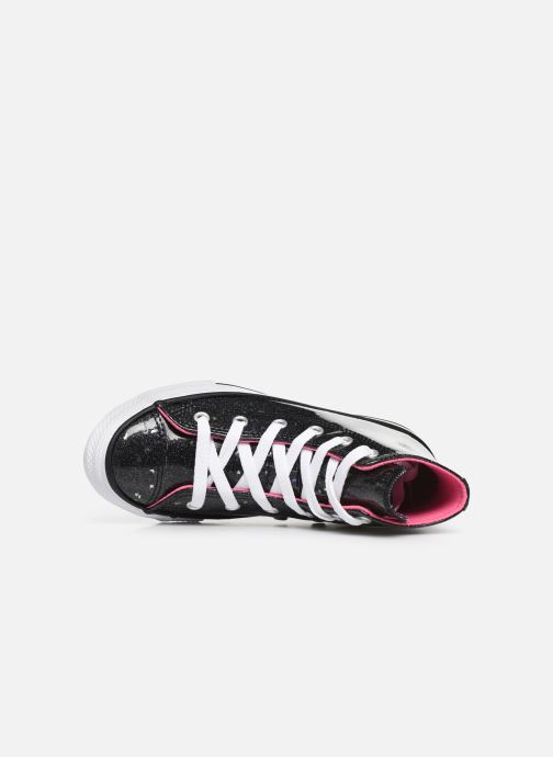 Sneakers Converse Chuck Taylor All Star Galaxy Glimmer Hi Zwart links