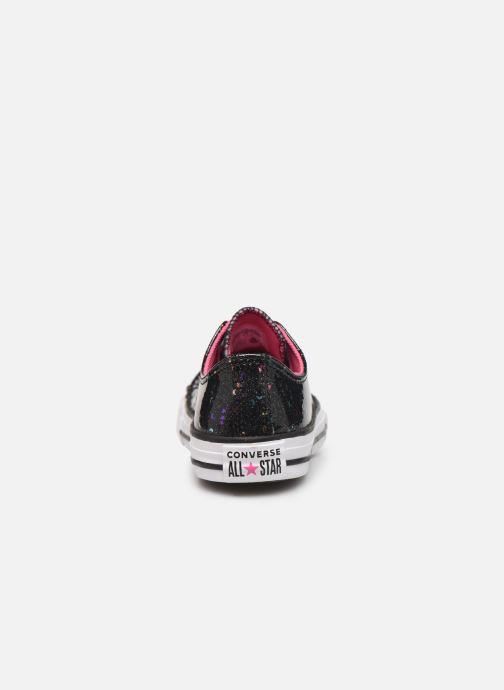 Baskets Converse Chuck Taylor All Star Galaxy Glimmer Ox Noir vue droite
