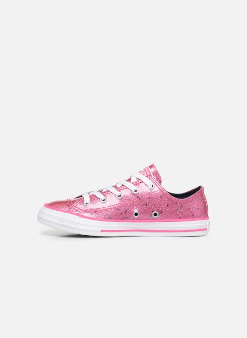 Sneakers Converse Chuck Taylor All Star Galaxy Glimmer Ox Roze voorkant