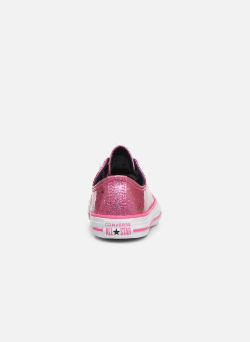 Sneakers Converse Chuck Taylor All Star Galaxy Glimmer Ox Roze rechts