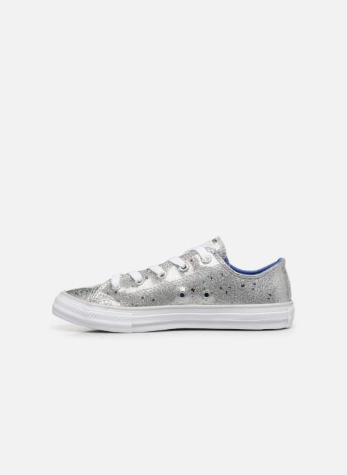 Baskets Converse Chuck Taylor All Star Galaxy Glimmer Ox Gris vue face
