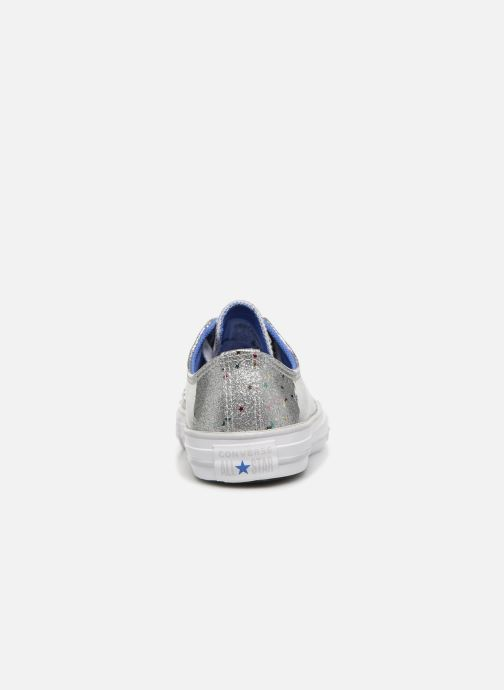 Baskets Converse Chuck Taylor All Star Galaxy Glimmer Ox Gris vue droite