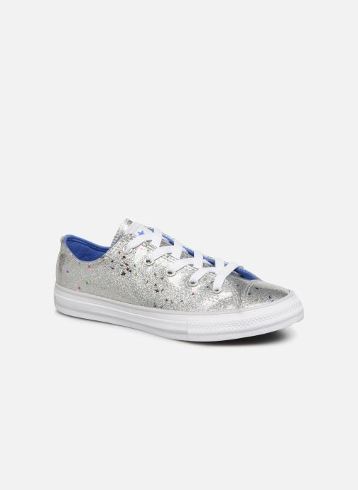 Baskets Converse Chuck Taylor All Star Galaxy Glimmer Ox Gris vue détail/paire