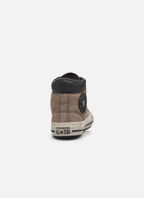 Baskets Converse Chuck Taylor All Star Pc Boot Boots On Mars Hi Marron vue droite