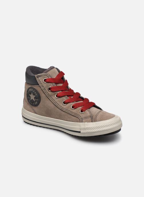 Baskets Converse Chuck Taylor All Star Pc Boot Boots On Mars Hi Marron vue détail/paire