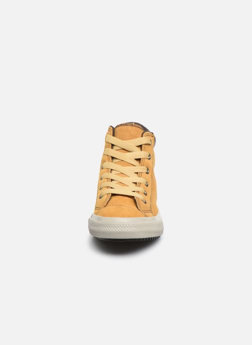 Baskets Converse Chuck Taylor All Star Pc Boot Boots On Mars Hi Jaune vue portées chaussures