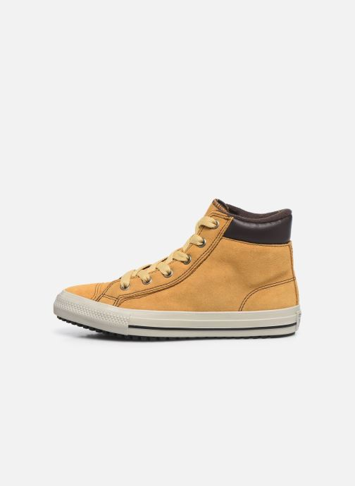Baskets Converse Chuck Taylor All Star Pc Boot Boots On Mars Hi Jaune vue face