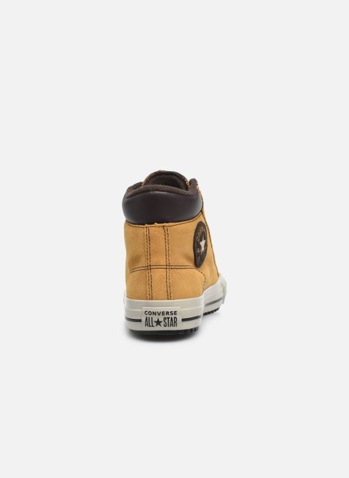 Baskets Converse Chuck Taylor All Star Pc Boot Boots On Mars Hi Jaune vue droite