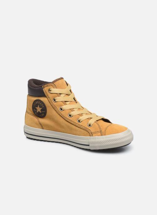 Baskets Converse Chuck Taylor All Star Pc Boot Boots On Mars Hi Jaune vue détail/paire