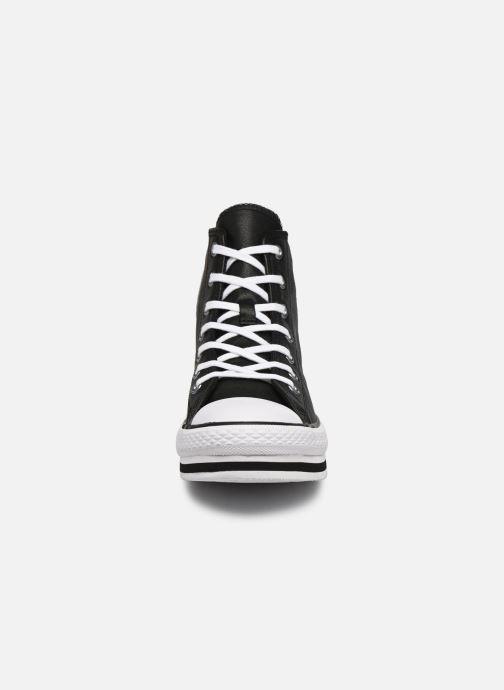 Sneakers Converse Chuck Taylor All Star Platform Eva Leather Hi Nero modello indossato