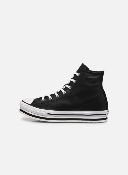 Sneakers Converse Chuck Taylor All Star Platform Eva Leather Hi Nero immagine frontale
