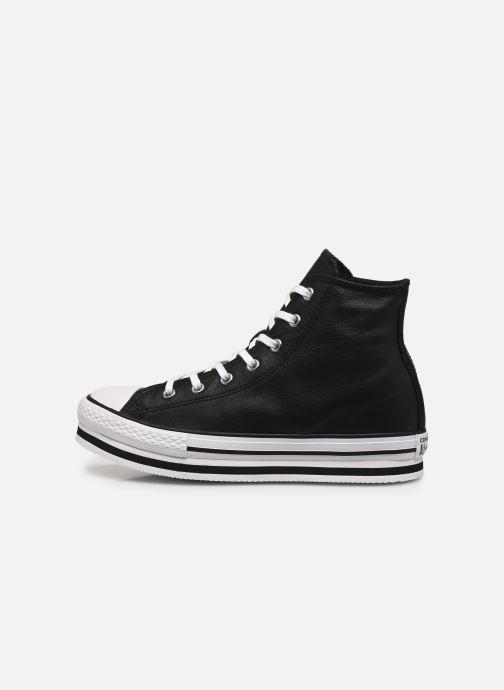 Sneakers Converse Chuck Taylor All Star Platform Eva Leather Hi Nero immagine frontale