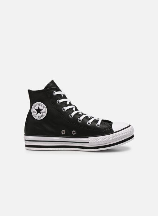 Deportivas Converse Chuck Taylor All Star Platform Eva Leather Hi Negro vistra trasera