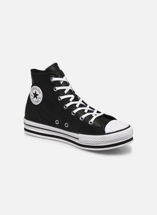 Converse Chuck Taylor All Star Platform Eva Leather Hi (Noir ...