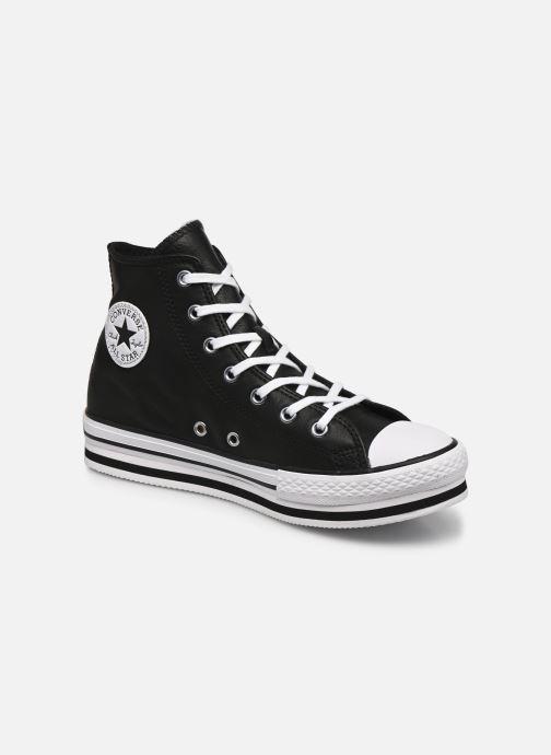 Sneakers Converse Chuck Taylor All Star Platform Eva Leather Hi Zwart detail