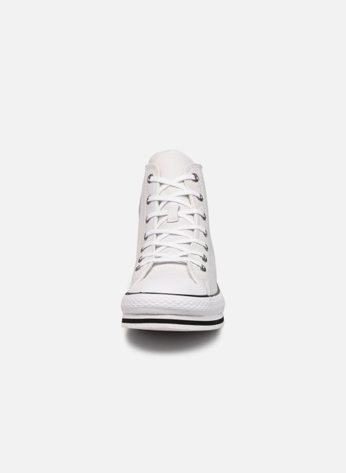 Baskets Converse Chuck Taylor All Star Platform Eva Leather Hi Blanc vue portées chaussures