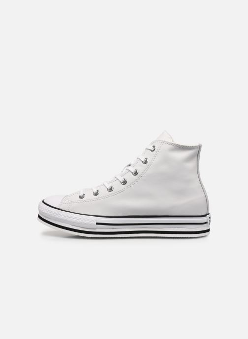 Baskets Converse Chuck Taylor All Star Platform Eva Leather Hi Blanc vue face