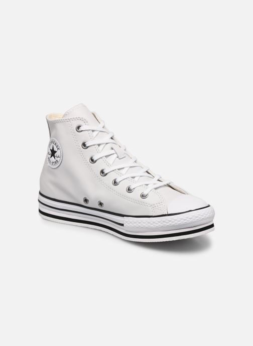 Baskets Converse Chuck Taylor All Star Platform Eva Leather Hi Blanc vue détail/paire